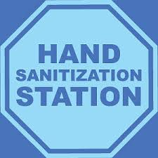 Hand Sanitizing Station Stop Sign 9 X9 Wall Decal Sign 2 Pack Cokesbury