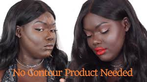 how to natural contour for dark skin