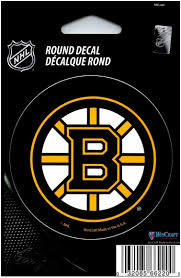 Hcw Boston Bruins 3 Round Vinyl Decal Sticker Nhl Licensed In Outdoor At Amazon S Sports Collectibles Store