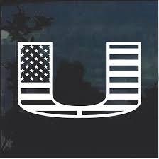 University Of Miami Hurricanes Flag Decal Sticker Custom Sticker Shop