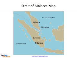 Strait of Malacca map templates - Free PowerPoint Templates