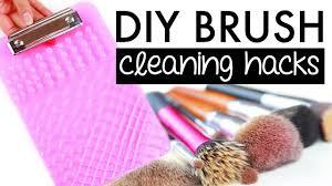 how to clean makeup brushes diy hacks