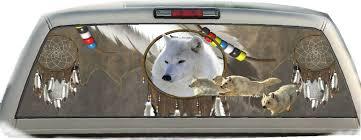 Wolves Indian Dream Catcher Rear Window Graphic Tint Decals Indian Dream Catcher Dream Catcher Wolf Wallpaper