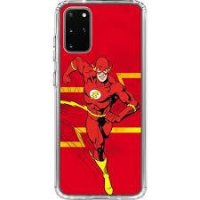 Jagged Flash Galaxy S20 Plus Clear Case Dc Comics