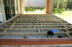 build a deck over a concrete patio
