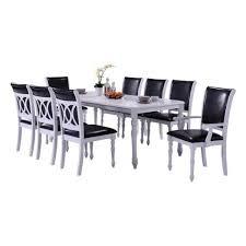 white modern 9 piece dining set