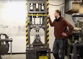 diy 40 ton hydraulic forging press
