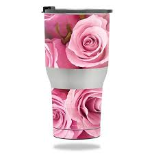 Skin Decal Wrap For Rtic Tumbler 30 Oz 2017 Sticker Pink Roses Walmart Com