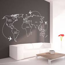 World Map Outlines Continents Sticker Moonwallstickers Com