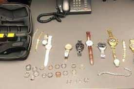 police seize taser and stolen clothing