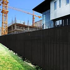 Amazon Com Sunshades Depot 4 X 50 Ft Black Privacy Fence Screen Temporary Fence Screen 150 Gsm Heavy Duty Windscreen Fence Netting Fence Cover 88 Privacy Blockage Excellent Airflow 3 Years Warranty