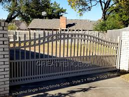 Estate Gates Double Swing Great Fence