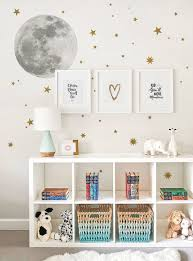 Moon And Stars Wall Sticker Wall Decal Contemporary Wallpaper By Simple Shapes