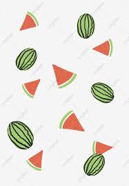 فاكهة البطيخ رسم كاريكتوري طباعة الخلفية رسم كاريكتوري