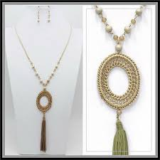 natural blonde wooden beads tassel