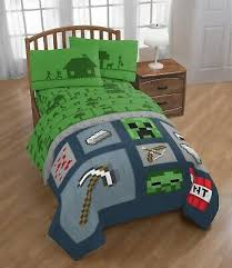 minecraft icon boys full comforter