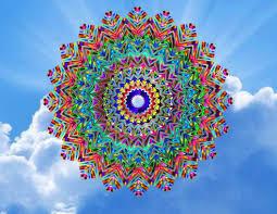 Mandala Kaleidoscope Window Cling Stained Glass Color Etsy Window Art Window Clings Colored Glass