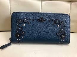 coach 87078 slim accordion zip wallet