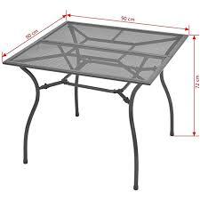 vidaxl outdoor dining table steel mesh