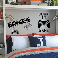 Hot New Gamer Wall Sticker For Game Room Decor And Kids Room Decoration Bedroom Decor Door Stickers Geek