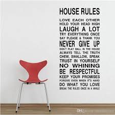 House Rule Rules Wall Sticker In This House Quote Saying Decal Vinyl Wall Decal Decal Art For Walls Decal Decor From Chenshuiping 5 53 Dhgate Com