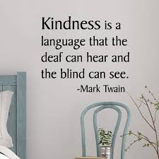 Kindness Is A Language Wall Quotes Decal Wallquotes Com
