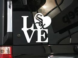 I Love Chicago White Sox Vinyl Car Decal Sticker 5 5 W W White Sox Logo Ebay