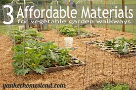 materials for vegetable garden walkways