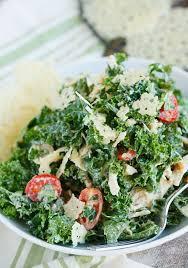 kale caesar salad with parmesan crisps