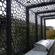 China Laser Cut Metallic Paint Aluminum Screen Panel For Mashrabiya Garden Fence Privacy Fence Metal Fence China Screen Panel Laser Cut Panel