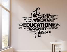Vinyl Wall Decal Education School Classroom Knowledge Words Cloud Stic Wallstickers4you
