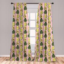 East Urban Home Avocado Room Darkening Rod Pocket Curtain Panels Wayfair
