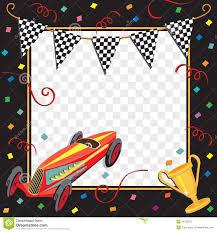 Invitacion Del Partido Del Coche De Carreras Ilustracion Del