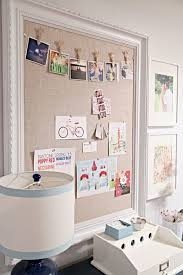 Nice Idea Thanks Kim Could Do It So Easily With A Vintage Frame Redone If Need Be And Any Type Of Fabric That Fits Diy Bulletin Board Home Diy Home Decor