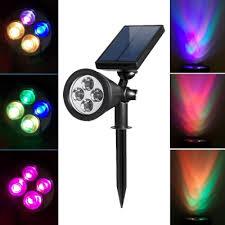 multi color black finish 4 led solar