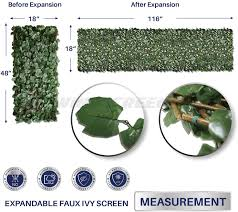 Amazon Com Windscreen4less Artificial Leaf Faux Ivy Expandable Stretchable Privacy Fence Screen Double Sided Leaves Garden Outdoor