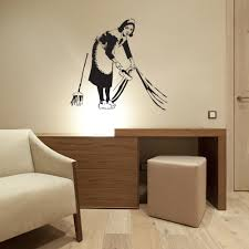 Lazy Maid Banksy Wall Decal Style And Apply
