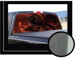 Dragon 1 22 X 65 Rear Window Graphic Back Truck Decal Suv View Thru Vinyl Truck Decals Rear Window Trucks