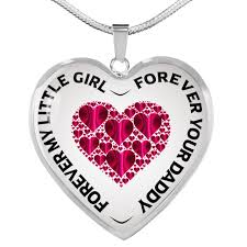 necklace pendant daddy daughter father