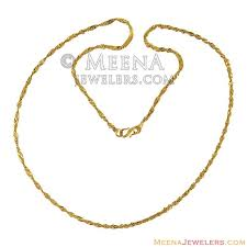 22k gold thin chain 21 inches