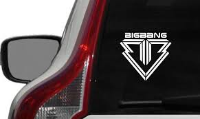 Amazon Com Bigbang Text Bb Logo Car Vinyl Sticker Decal Bumper Sticker For Auto Cars Trucks Windshield Custom Walls Windows Ipad Macbook Laptop Home And More White Automotive