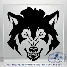 Wolf Dog Scary Auto Car Bumper Window Vinyl Decal Sticker Decals Laptop Tablet Ebay