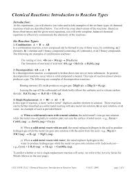 chemical reactions introduction to