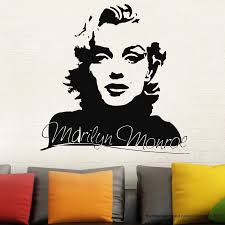 Sexy Marilyn Monroe Wall Decal Stickers Home Decor Easy Removable Sticker Waterproof Wallpaper D187 Marilyn Monroe Wall Marilyn Monroe Wall Decalsstickers Home Decor Aliexpress