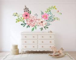 Boho Wall Decals Watercolor Spring Floral Wall Decals Boho Pink Ro Walls2lifedecals