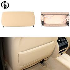 beige car seat back bag panel storage