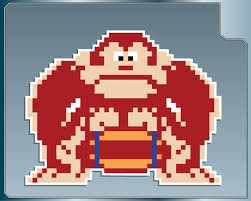 Donkey Kong With A Barrel Sprite Vinyl Decal From Donkey Kong Etsy