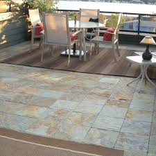 slate outdoor deck tile