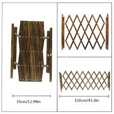 Carbonized Pet Gate Dog Fence Retractable Folding Cat Pet Dog Barrier Wooden Safety Gate Expanding Swing Puppy Stretchable Fence Houses Kennels Pens Aliexpress