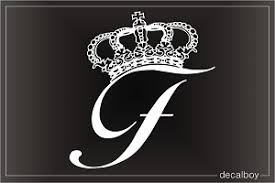 Crown Custom Initial Letter Decal
